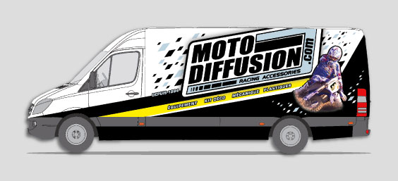 Moto Diffusion Graphic marking